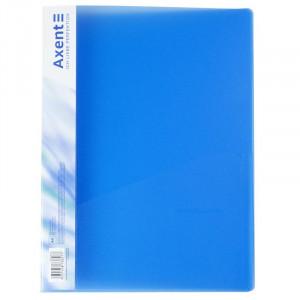 Папка с пружинным скоросшивателем пластик (А4) Axent 20 мм полупрозрач синяя (1304)