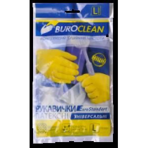 Перчатки латексные (универсальные) L-9 BuroClean (прочные ЖЕЛТЫЕ) (10200302)