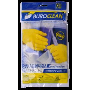 Перчатки латексные (универсальные) XL-9 BuroClean (прочные ЖЕЛТЫЕ) (10200303)