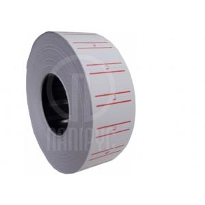 Ценники прямоугольные, 21 х 12 мм, 1000 шт, белые (E21301-14)