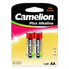Батарейка AA LR06 Camelion Alkaline (пальчик), (блистер 2 шт)