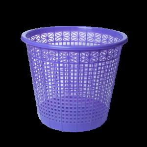 Корзина для мусора пластик 8 л (решетчатая-круглая) фиолетовая ZIBI