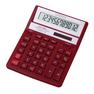 Калькулятор CITIZEN SDC-888 XRD 12 разр 158 x 203,2 x 31 мм корп. красный