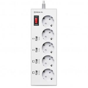 Сетевой фильтр PowerPlant 3 м 5 розеток евростандарт (JY-1056/3)