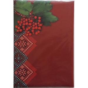 Папка поздравительная ВІТАЄМО (А4) Бібльос, обложка бордо с калиной (B291)