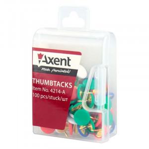 Кнопки канцелярские 100 шт AXENT цветные (4214-a)