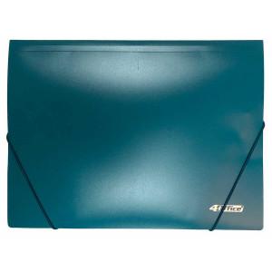 Папка на резинке пластик (А4) 4OFFICE 4-244-04 зеленая