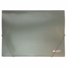 Папка на резинке пластик (А4) 4OFFICE 4-244-08 серая