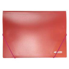 Папка на резинке пластик (А4) 4OFFICE 4-244-01 красная