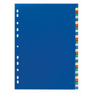 Разделитель страниц пластик (цветной) (цифр 1-31) А4 DURABLE (6756)