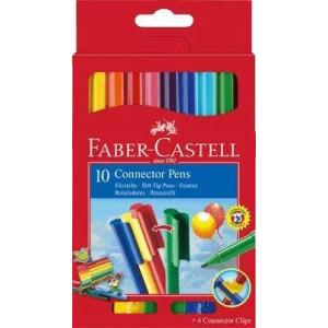 Набор фломастеров Faber Castell Connector 10 цв