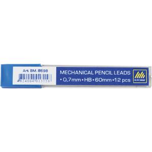 Грифели для механических карандашей 0,7 мм, HB, BUROMAX, (12 шт) (BM.8698)