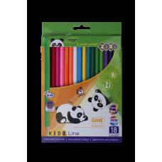Карандаши цветные 18 цв х 18 шт ZIBI Kids Line (ZB.2415)