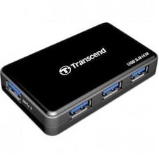 Концентратор 4-PORTS black (4 порта с кнопкой на каждый порт, поддержка до 0,5ТВ, питание от USB)