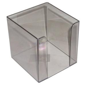Бокс для бумаги 90 х 90 х 90 мм пластик дымчастый АРНИКА (83031)