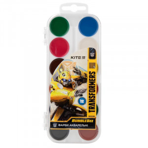 Краски акварельные (без кисти) Kite Transformers, 12 цветов (TF19-061)