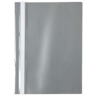 Скоросшиватель пластик. с прозр. верхом А4 (глянец) серый AXENT (1317-12-A)