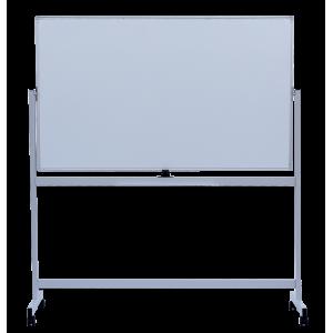 Доска сухостираемая 90 х 150 см BuroMax в алюмин рамке поворотная 2-сторон на колесах магнитн (BM.0202)