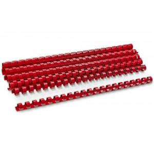 Пружина для биндера пластик 12 мм (до 100 л) 100 шт/уп (красная)