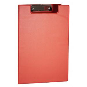 Папка-планшет с верхним зажимом ПВХ (А4) 4OFFICE 4-258 (клипборд) красная