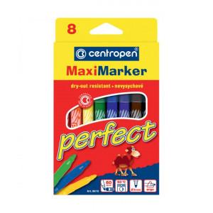 Набор фломастеров Centropen Perfect Maxi 8610 2,5 мм 8 цв (не высыхают 60 дней) (8610/08)
