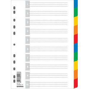 Разделитель страниц пластик (цветной) (цифр 1-10) А4 DONAU (7710095)