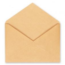 Конверт мокрокл C4 (229 х 324) 1 шт, треугольн клапан, коричневый 100 г/м кв