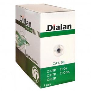 Кабель сетевой Dialan UTP 305м КПВ 4*2*0,50 [СU] cat.5e 305 м.(10557)