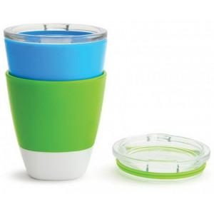 Набор стаканчиков Munchkin Splash 2 шт Зеленый, Голубой