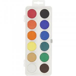 Краски акварельные (без кисти) KOH-I-NOOR, 12 цветов  (ZB.6501)