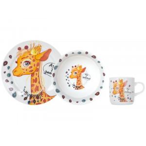 Набор посуды детской Limited Edition Pretty Giraffe из 3 предметов (C389)