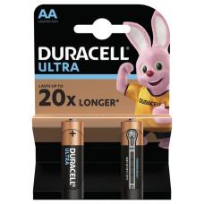 Батарейка AA LR06 Duracell ULTRA MX1500 (пальчик) с индикатором заряда
