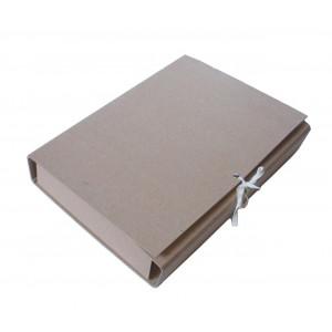 Папка-бокс архивная картон (А4) 80 мм (на завязках) АРХИВО БЕЖЕВЫЙ (АРХ_306Z\80)