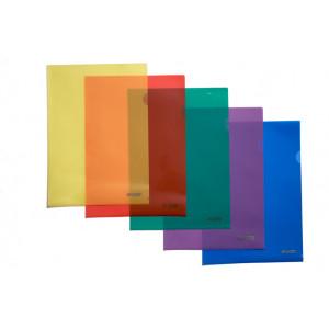 Папка-уголок (А4) 120 мкм глянец АССОРТИ 4Office 4-202