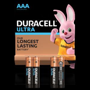 Батарейка AAA LR03 Duracell ULTRA MX2400 мизинчик с индикатором заряда