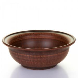 Миска керамическая коричневая 0,65 л