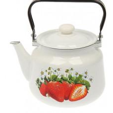Чайник эмалированный без свистка 3,5 л Epos клубника (2713/2)