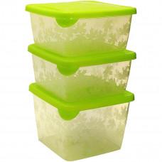 Набор контейнеров BranQ Rukkola салатовый, 750 мл, 3 шт