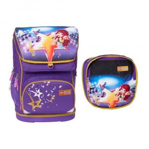 Ранец школьный Лего Френдз Поп-звезда с сумкой 30л (20013-1705)