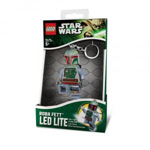 Брелок-фонарик Лего Boba Fett с батарейкой (LGL-KE19-BELL)