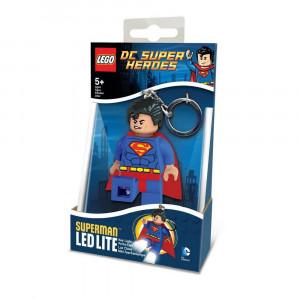 Брелок-фонарик Лего Супергерои Супермен (LGL-KE39)