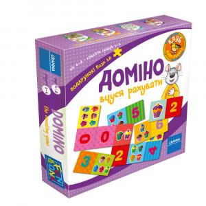 Настольная игра Granna Домино. Учусь считать (82500)