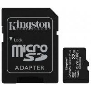 Карта памяти 32GB microSDHC SDCS2/32GB Ca 3611.00 46 78.501 3625767 SDCS2/32GB nvas Select Plus 100R A1 Kingston