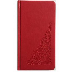 Алфавитная книга 90х150 мм 64 л обложка искусств кожа красная (212 06)