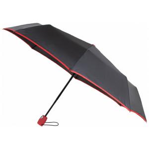 Зонт автомат. Economix HANDY, 8 спиц, цвет: черно-красный (E98404-03)