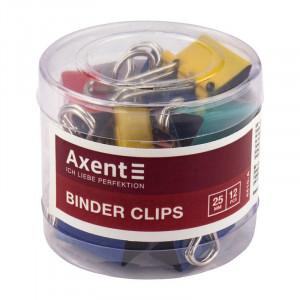 Зажим 25 мм цветной Axent 12 шт/уп (4410-а)
