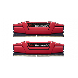 Модуль памяти для компьютера DDR4 8GB (2х4GB) 2400 MHz RipjawsV Red G.Skill (F4-2400C15D-8GVR)