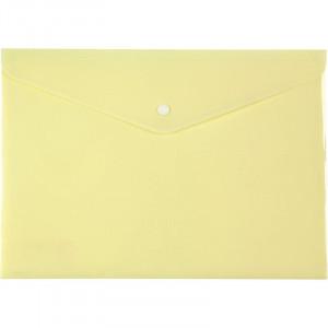 Папка на кнопке пластик (А4) Axent Pastelini желтая (1412-08-A)
