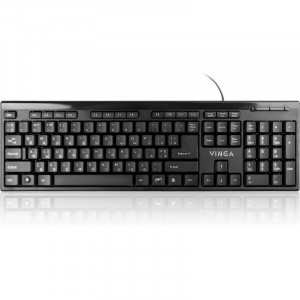 Клавиатура проводная VINGA KB320BK Black, USB