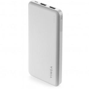 Батарея универсальная Vinga 10000 mAh white (BTPB1910WH)